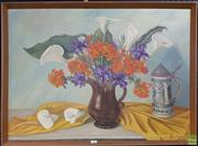Sale 8609 - Lot 2038 - Ade Beer Plomp - Still Life, 1984 oil on board, 60.5 x 79.5cm, signed lower right -