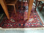 Sale 8717 - Lot 1070 - Middle Eastern Rug in Red & Blue Tones 124 x 200cm