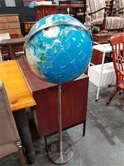 Sale 8724 - Lot 1074 - World Globe on Chrome Stand
