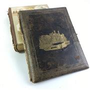 Sale 8793 - Lot 67 - Victorian Photographic Album c. 1880s. Morocco cover with gilt tooled image of Government House, Sydney and colour internals