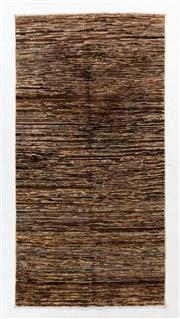 Sale 8800C - Lot 163 - A Striped Afghan Gabbeh Floor Rug, Hand Knotted And Naturally Dyed, 100 x 198cm