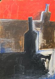 Sale 8850 - Lot 2006 - Artist Unknown - Still Life - Bottled mixed media on board, 90 x 59.5cm, unsigned