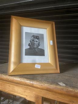 Sale 9106 - Lot 2107 - Framed photograph of a mountaineer