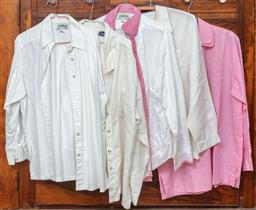 Sale 9120H - Lot 280 - Collection of five Annie Lants cotton and linen long sleeve button up shirts