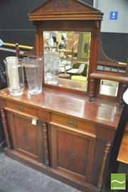 Sale 8347 - Lot 1007 - Victorian Mahogany Mirror Back Sideboard