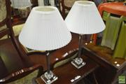 Sale 8341 - Lot 1075 - Pair of Acrylic & Chrome Table Lamps (5656)