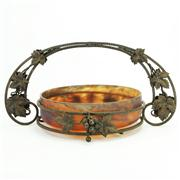 Sale 8391 - Lot 64 - French Glass & Metal Art Nouveau Centrepiece