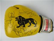 Sale 8450S - Lot 784 - Real Fighters - Lonsdale 12oz. Boxing Glove signed by Paul Gallen, Tod Carney, Billy Dib, Dane Swan, Lauryn Eagle & Candice Falzon