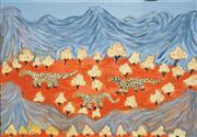 Sale 8519A - Lot 5086 - Mary Brumby - Lizards Travelling Through Country 41 x 61cm
