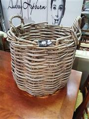Sale 8601 - Lot 1082 - Cane Firewood Basket