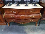Sale 8669 - Lot 1011 - Serpentine Front Chest of Drawers with Marble Top