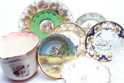 Sale 8732W - Lot 82 - Jardinere, Vienna Style Charger, Doulton Bowl And Other Ceramics (Tallest:20cm)