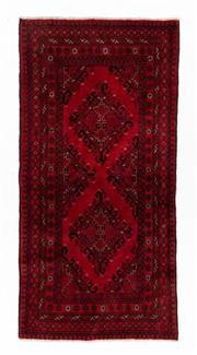Sale 8800C - Lot 164 - An Afghan Tekke Hand Knotted Wool Rug, In A Hardy Weave Of Medallion Design, 98 x 200cm