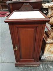 Sale 8917 - Lot 1005A - Victorian Mahogany (?) Bedside Cabinet, with inset marble panel to top & single panel door