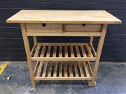 Sale 9006 - Lot 1008 - Pine Kitchen Island (h:90 x w:100 x d:43cm)