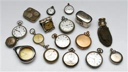 Sale 9144 - Lot 104 - A Collection of Pocket Watches (not working) and other Vintage Sundries incl. purse with Olympic rings