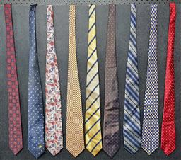 Sale 9254 - Lot 2289 - Collection of Silk Ties including Pierre Cardin