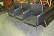 Sale 8165 - Lot 1077 - Set of 4 Reception Chairs on Chrome Legs