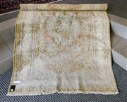 Sale 8205 - Lot 80 - A Persian carpet, in gold cotton and muted tones, approx 124 x 180cm