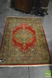 Sale 8380 - Lot 1052 - Red Tone Carpet with Central Medallion (102 x 150cm)
