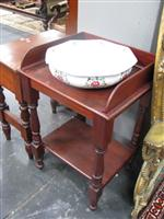 Sale 7919A - Lot 1725 - Late 19th Century Cedar Open Washstand with Pink and White Bowl