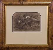 Sale 7379B - Lot 84 - S.T.Gill- The Catch, watercolour, 18x 26cm, signed lower left.