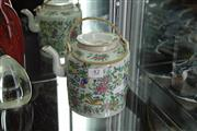Sale 8151 - Lot 42 - Famille Rose Teapot with Floral Detail