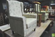 Sale 8302 - Lot 1032 - Pair of Fabric Armchairs