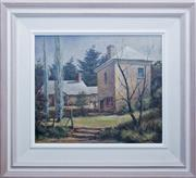 Sale 8473A - Lot 37 - Fred Goss - Magistrates Cottage Berrima 29 x 34cm