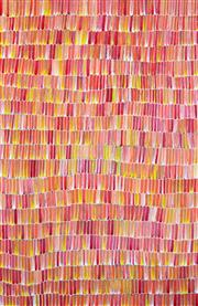 Sale 8321 - Lot 543 - Jeannie Mills Pwerle (1965 - ) - Bush Yam 200 x 126cm