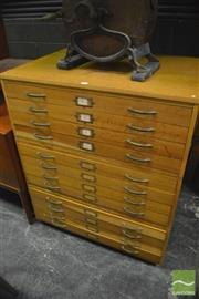 Sale 8350 - Lot 1075 - Nice Oak Map Chest