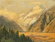 Sale 8665 - Lot 589 - Albert Fullwood (1863 - 1930) - Mountain Scene 22 x 29.5cm