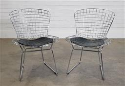 Sale 9188 - Lot 1292 - Pair of Bertoia style chairs (h:80 x w:53 x d:49cm0