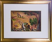 Sale 7379B - Lot 83 - Anne Montgomery- Rocky Landscape, oil on board, 41x 57cm, signed and dated 1952 upper right.