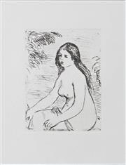 Sale 8296A - Lot 83 - After. Pierre Auguste Renoir (1841 - 1919) - Femme Nue Assise 18.5 x 14cm