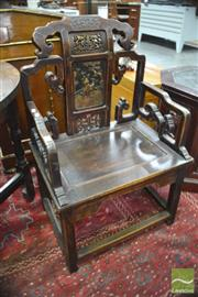 Sale 8326 - Lot 1436 - Chinese Rosewood Chair