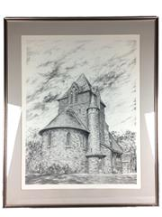 Sale 8607R - Lot 72 - Marentz - Perspective Pencil Drawing (74 x 56cm)