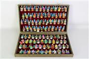 Sale 8923 - Lot 95 - A Collection of Chinese Hand Painted 100 Emperors Miniatures in Case