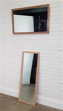Sale 9174 - Lot 1121 - Near pair of modern painted mirrors (133 x 50cm)