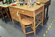 Sale 7987A - Lot 1168 - Cane Desk And Chair
