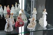 Sale 8098 - Lot 2 - Royal Doulton Figures Loving You, Forget Me Not, Rose, Sit & My First Pet & 2 Others