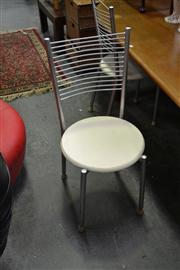 Sale 8147 - Lot 1083 - Set of 4 Metal Framed Chairs