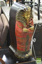 Sale 8326 - Lot 1232 - Sarcophagus Form Cabinet
