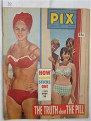 Sale 8431B - Lot 56 - Front cover of Pix Magazine March 5, 1966