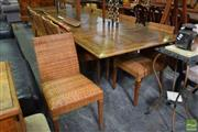 Sale 8500 - Lot 1252 - Timber Extension Dining Table and 12 Chairs