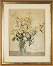 Sale 8759 - Lot 2004 - Jean Parker Sutherland (1902 - 1978) - Flowers in Vase 71 x 53cm