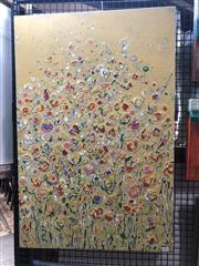 Sale 8845 - Lot 2052 - Susan Merli - Garden (Wildflowers Series) 90 x 60cm
