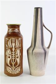Sale 8905 - Lot 31 - Studio pottery handled vessel (H39cm) together with another (H29.5cm)
