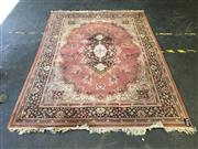Sale 9043 - Lot 1060 - Pink Tone Machine Made Carpet with Central Medallion (232 x 171cm)