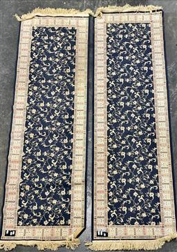 Sale 9134 - Lot 1493A - Pair of Machine-made black runners (210 x 66cm)